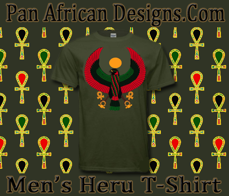 Men Military Green Heru T-Shirt