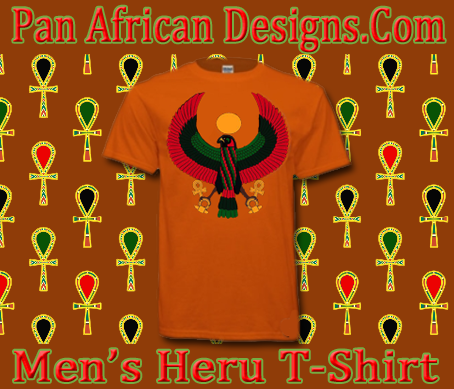 Men Orange Heru T-Shirt