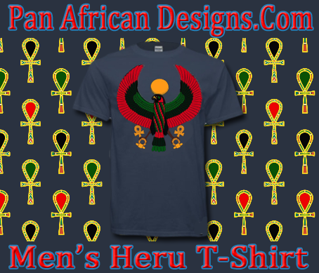 Men Blue Dusk Heru T-Shirt