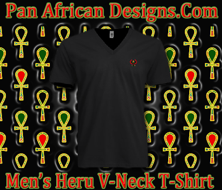 Men/Unisex Black Heru V-Neck T-Shirt