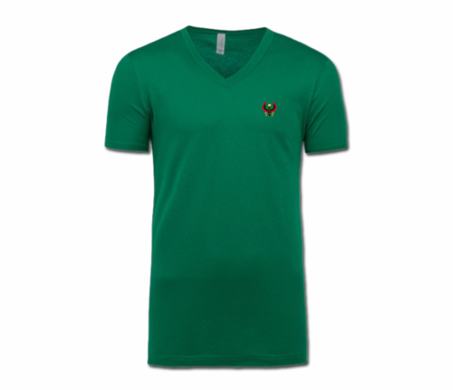 Men/Unisex Kelly Green Heru V-Neck T-Shirt