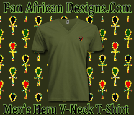 Men/Unisex Army Green Heru V-Neck T-Shirt