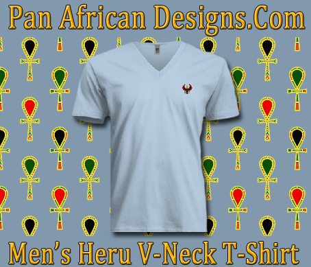 Men/Unisex Baby Blue Heru V-Neck T-Shirt