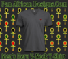 Men/Unisex Charcoal Grey Heru V-Neck T-Shirt