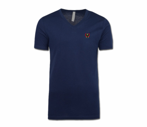 Men/Unisex Navy Blue Heru V-Neck T-Shirt