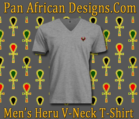 Men/Unisex Heather Grey Heru V-Neck T-Shirt