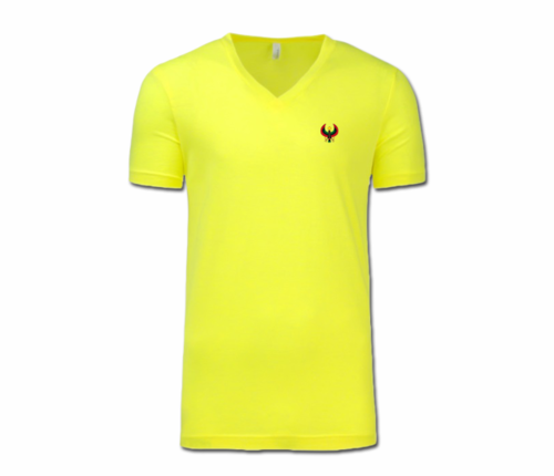 Men/Unisex Yellow Heru V-Neck T-Shirt