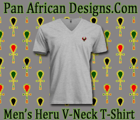 Men Ash Grey Heru V-Neck T-Shirt...