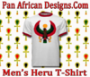 Men White with Red Trim Heru T-Shirt