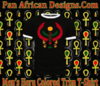 Men Black with White Trim Heru T Shirt