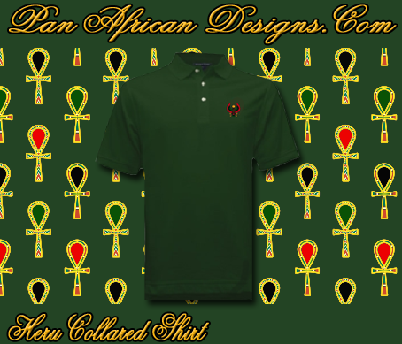 Men Forest Green Heru Collared Shirt
