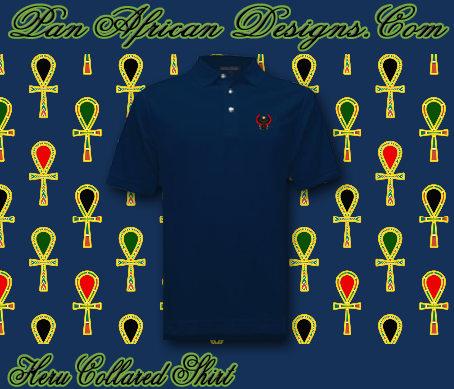 Men Navy Blue Heru Collared Shirt
