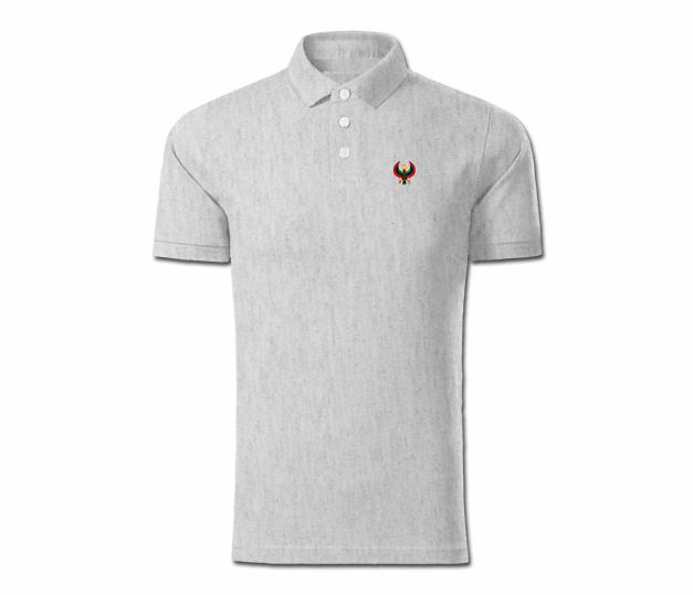 Men Heather Grey Heru Collared Shirt - Pan African Designs 243823360
