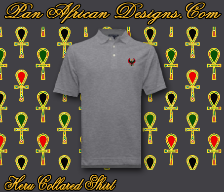 Men Heather Grey Heru Collared Shirt