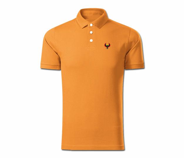 Men Deep Orange Heru Collared Shirt - Pan African Designs 0b0d9b5b2