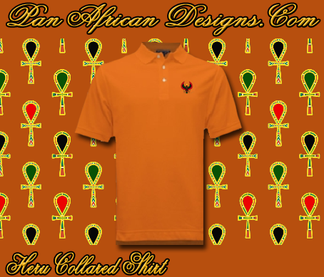 Men Deep Orange Heru Collared Shirt