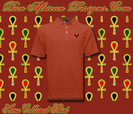 Men Rust Heru Collared Shirt