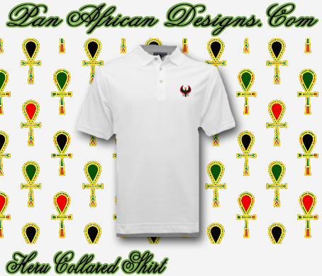 Men White Heru Collared Shirt