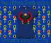 Women Royal Blue Longer Length Heru T-Shirt