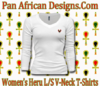 Women White Heru L/S Sheer V-Neck T-Shirt
