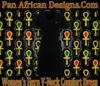 Women Black Heru V-Neck Comfort Dress