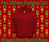 Women Red Hooded Heru Fleece Jacket