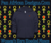 Women Navy Blue Hooded Heru Fleece Jacket