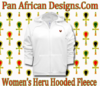 Women White Hooded Heru Fleece Jacket