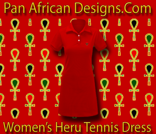 Women Red Heru Tennis Dress