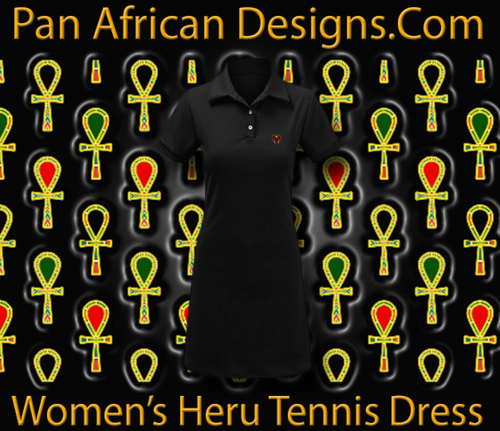 Women Black Heru Tennis Dress
