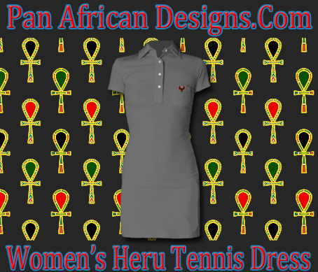 Women Charcoal Grey Heru Tennis Dress