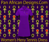 Women Purple Heru Tennis Dress