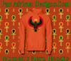 Women Orange Heru Hoodie