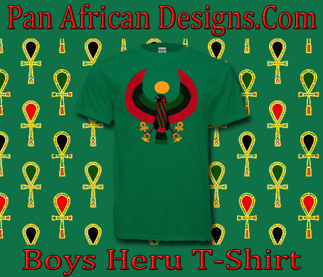 Boys Kelly Green Heru T-Shirt