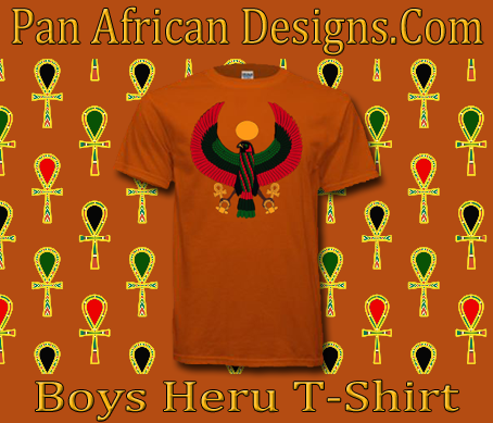 Boys Orange Heru T-Shirt