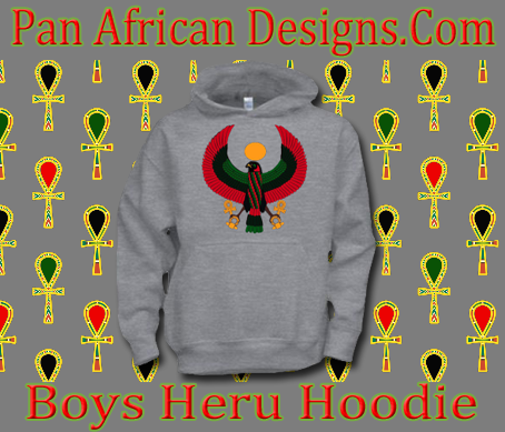 Boys Sports Grey Heru Hoodie