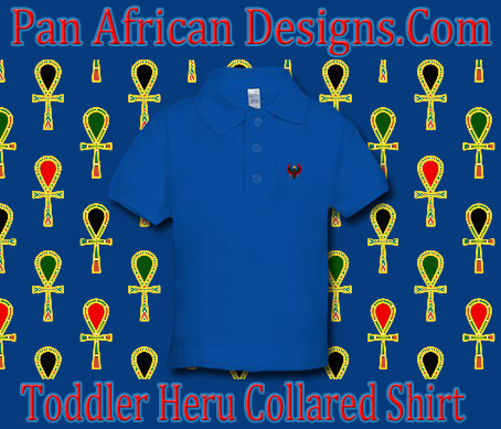 Toddler Royal Blue Heru Collard Shirt