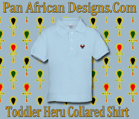 Toddler Baby Blue Heru Collard Shirt