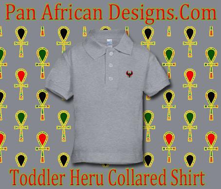 Toddler Heather Grey Heru Collard Shirt