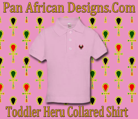 Toddler Pink Heru Collard Shirt