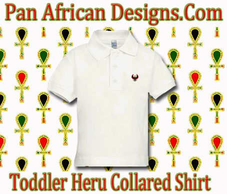 Toddler White Heru Collard Shirt