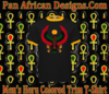 Men Black with Gold Trim Heru T Shirt