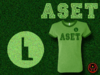 Womens Heather Green and Green Aset T-Shirt With Brilliant Green Metallic/Foil Print