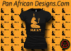 Women's Black and Gold Maat T-Shirts with Glitter