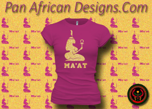 Women's Berry and Gold Maat T-Shirts with Glitter