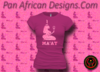 Women's Berry and Pink Maat T-Shirts with Glitter