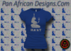 Women's Royal Blue and Silver Maat T-Shirts with Glitter