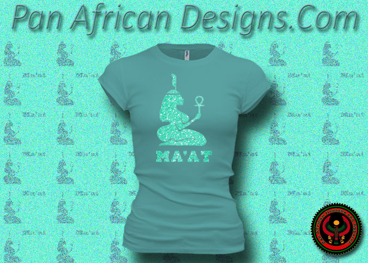 Women S Teal And Neon Green Maat T Shirts With Glitter Pan African