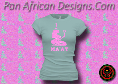Women's Seafoam and Pink Maat T-Shirts with Glitter