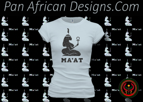 Women's Pale and Black Maat T-Shirts with Glitter